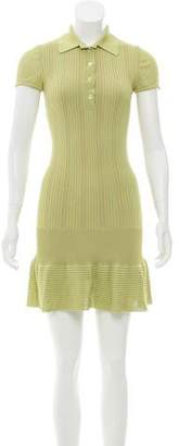 Alaia Short Sleeve Knit Mini Dress