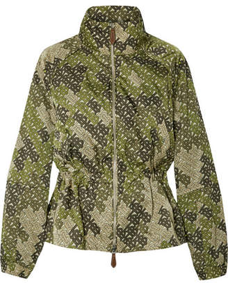 Burberry Printed Satin-twill Jacket - Green