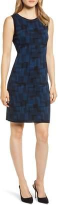 Anne Klein Print Sweater Tank Dress