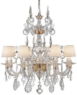 Ralph Lauren Home Alexandra Large Chandelier - Natural Brass/Crystal