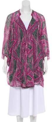 Diane von Furstenberg Long Sleeve High-Low Tunic