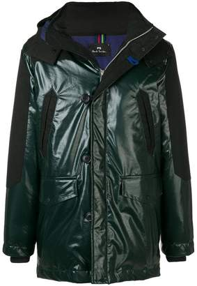 Paul Smith contrasting panels parka coat
