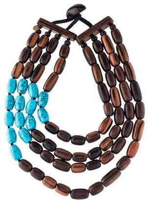 Viktoria Hayman Resin & Wood Bead Necklace