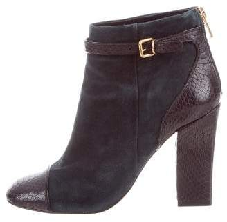 Tory Burch Suede Round-Toe Boots