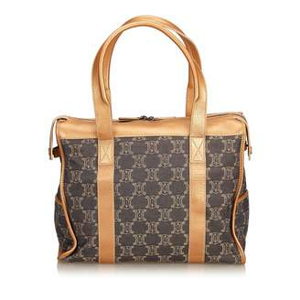 Celine Vintage Denim Macadam Handbag