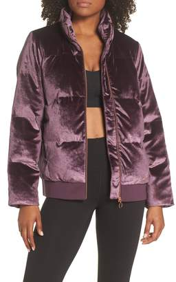 Sweaty Betty Velvet Puffa Jacket
