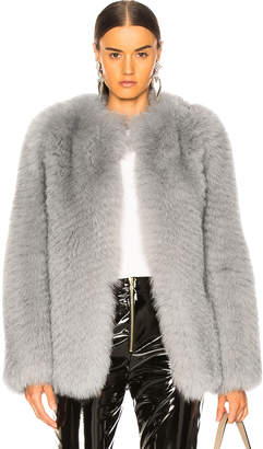 Zeynep Arcay Short Fox Fur Jacket in Grey | FWRD