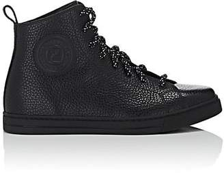 Fendi Women's Leather High-Top Sneakers - Black
