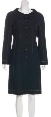 Alberta Ferretti Knee-Length Long Sleeve Coat