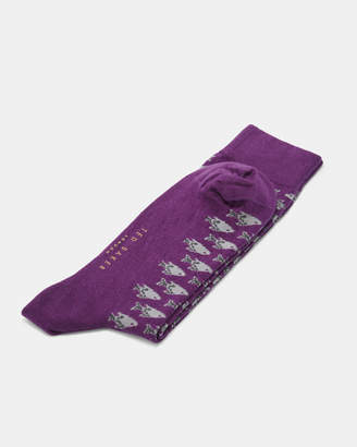 Ted Baker FIOFRO Fish print cotton socks