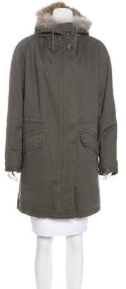 Yves Salomon Army by Fur-Trimmed Hooded Parka