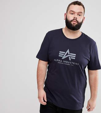 Alpha Industries PLUS Logo T-Shirt In Navy