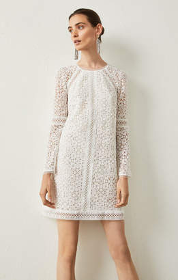 BCBGMAXAZRIA Mosaic Lace Shift Dress