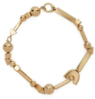 Jil Sander Geometric Shapes Necklace - Womens - Gold