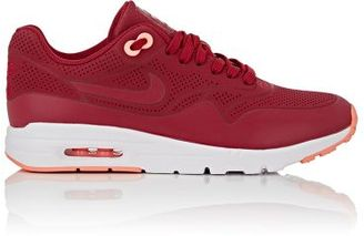 Nike Women's Air Max 1 Ultra Moire Sneakers-BERRY, RED $100 thestylecure.com