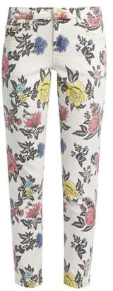 House of Holland Floral-print high-rise skinny jeans