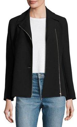 Helmut Lang Asymmetric-Zip Suiting Jacket, Black $695 thestylecure.com