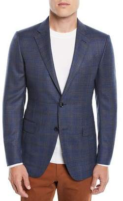 Ermenegildo Zegna Men's Two-Tone Plaid Two-Button Jacket