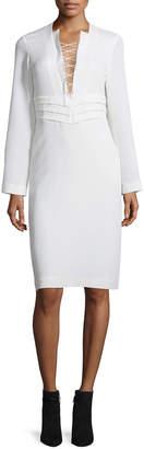 IRO Payda Lace-Front Sheath Dress, Ecru