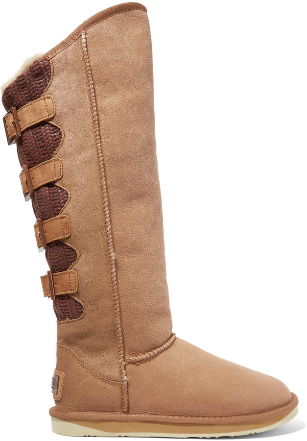Australia Luxe CollectiveAustralia Luxe Collective Spartan shearling-lined coated suede and knitted boots