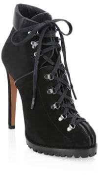 Gucci Alaà ̄a Alaà ̄a Women's Suede Stiletto Ankle Boots - Noir - Size 40 (10)