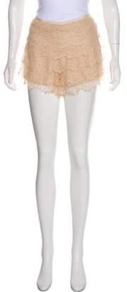 Haute Hippie Lace Mini Shorts