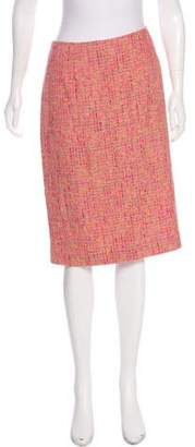 Oscar de la Renta Oscar by Tweed Knee-Length Skirt