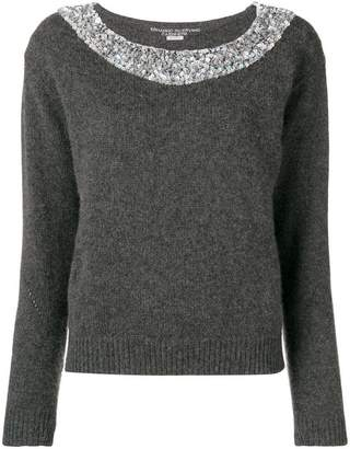 Ermanno Scervino knit sweater with embellishments