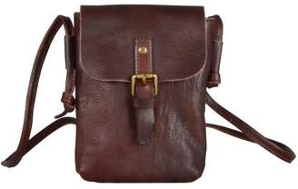 EAZO - Leather Clutch in Dark Brown