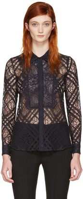 Burberry Navy Lace Aster Shirt $795 thestylecure.com