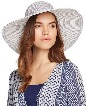 Aqua Two-Tone Packable Floppy Hat
