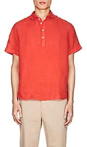 Barena Venezia Men's Linen Short-Sleeve Shirt-Red