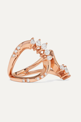 YEPREM 18-karat Rose Gold Diamond Ring