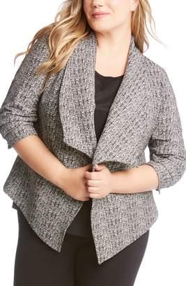 Karen Kane Shirred Sleeve Blazer