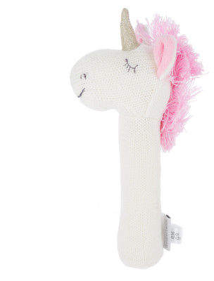 A. T NEW Unicorn Knitted Rattle