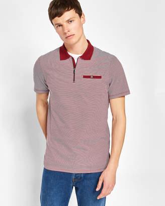 WHIPPET Flat knit collar cotton polo shirt