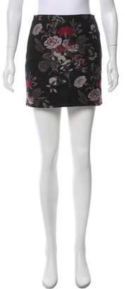 Ganni Floral Jacquard Mini Skirt