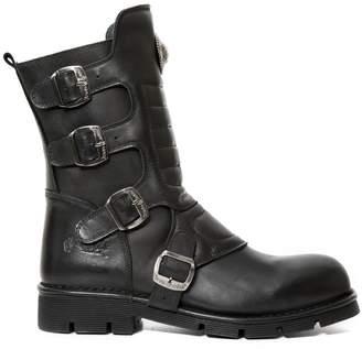 New Rock Mens Crust Leather Boots 43 EU