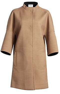 Akris Punto Women's Three-Quarter Sleeve Cocoon Coat