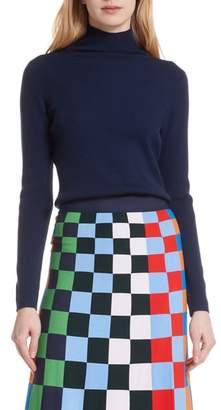 Tory Sport Ribbed Merino Wool Blend Turtleneck Sweater