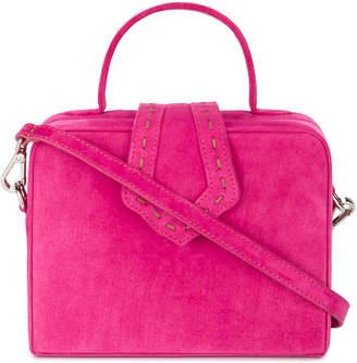 Mehry Mu pink Fey Mini Suede box bag