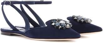 Dolce & Gabbana Bellucci embellished suede ballerinas