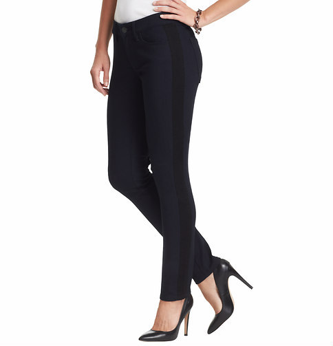 LOFT Tall Tuxedo Stripe Curvy Skinny Jeans in Saturated Rinse Wash