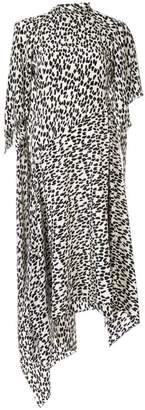Petar Petrov animal print asymmetric dress