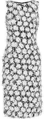 Michael Kors Floral-Print Fil Coupé Cady Dress