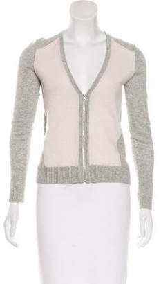 J Brand Cashmere Zip-Up Sweater