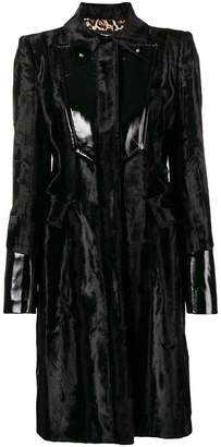 Just Cavalli panelled biker coat
