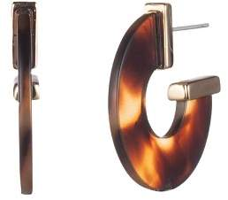 Ralph Lauren Tortoise Hoop Earrings