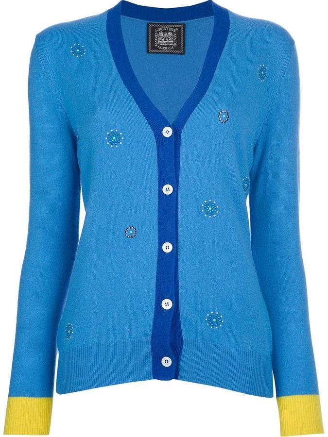 Libertine beaded patterned cardigan
