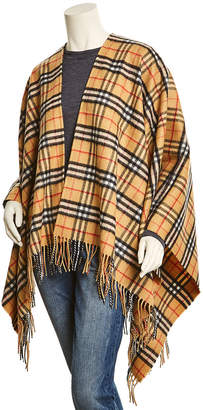 Burberry Vintage Check Cashmere & Wool-Blend Poncho